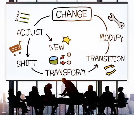 Change Improvement Development Adjust Transform Concept Stockfoto