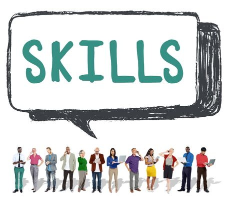 digital asset management: Skill Ability Qualification Performance Talent Concept Stock Photo