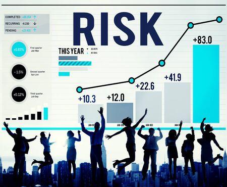 profit celebration: Risk Management Business Investment Unsteady Concept Stock Photo