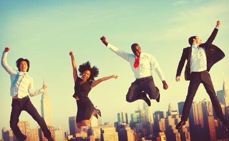 ビジネス人々 成功達成都市のコンセプト