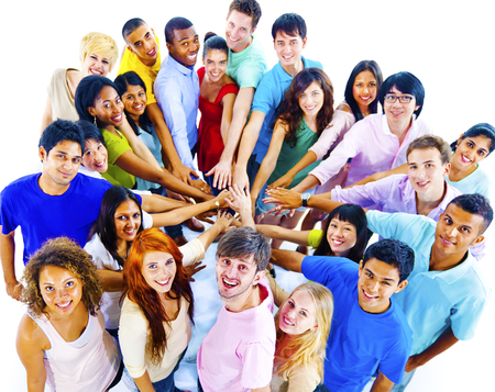 amicizia: Grande gruppo di persone della Comunit� Teamwork Concept Archivio Fotografico