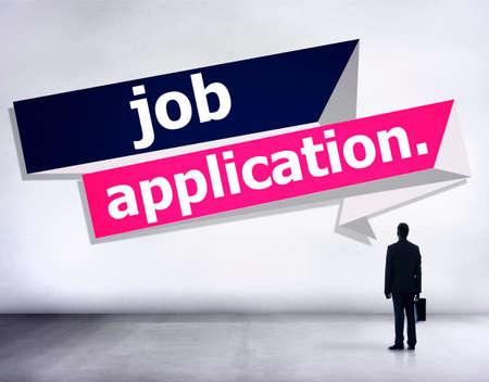 recruitment: Job Application Applying Recruitment Occupation Career Concept