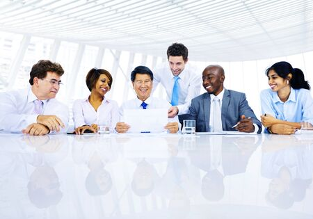 organised group: Group of Business People Meeting Discussion Concept Stock Photo
