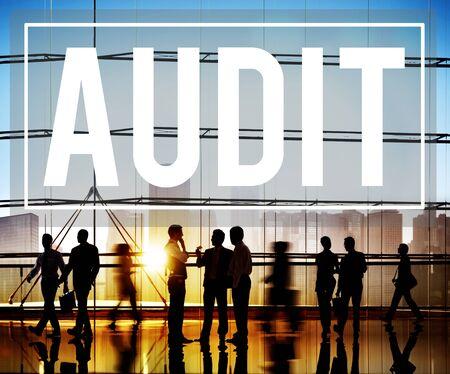 contabilidad: Auditor�a Contabilidad Contabilidad Finanzas Concepto de Inspecci�n Foto de archivo