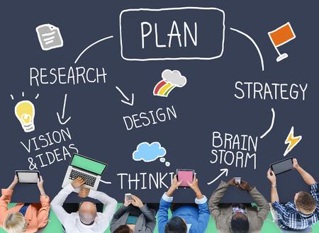 계획 계획 프로세스 미션 개발 개념 스톡 콘텐츠