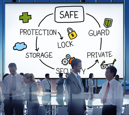 data protection: Safe Data Protection Storage Security Guard Concept