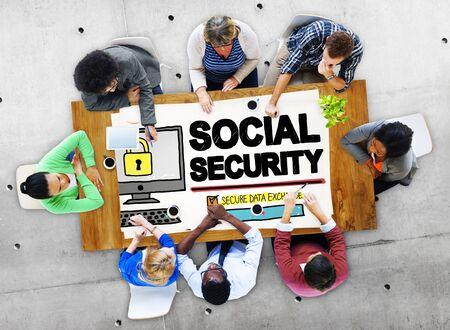 Seguridad Social Bienestar Retiro Concepto de Pago Foto de archivo - 46950729