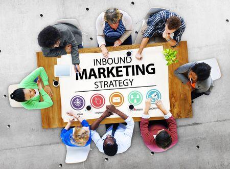 inbound: Inbound Marketing Strategy Commerce Solution Concept