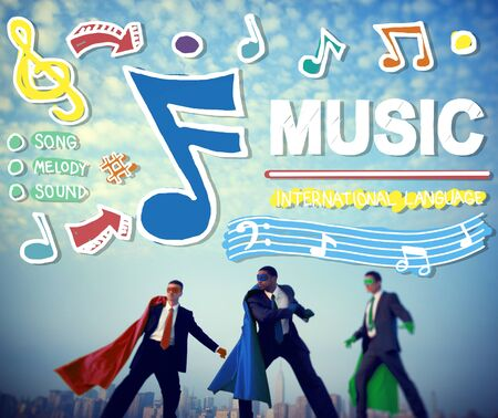 empowerment: Music Notes Song Entertainment Media Concept