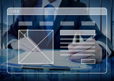 tecnologia informacion: P�gina Web Tecnolog�a sitio web en l�nea Concepto de Software