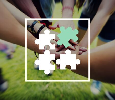 partnership strategy: Jigsaw Puzzle Partnership Teamwork Team Concept