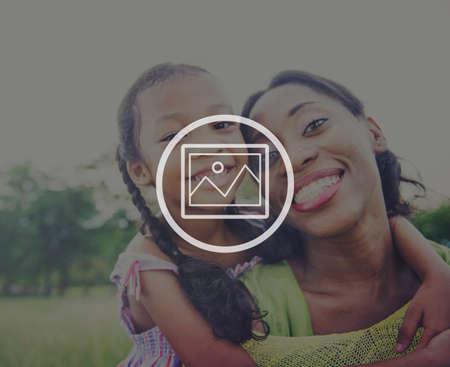 piggyback: Preview Photograph Icon Image Picture Symbol Concept