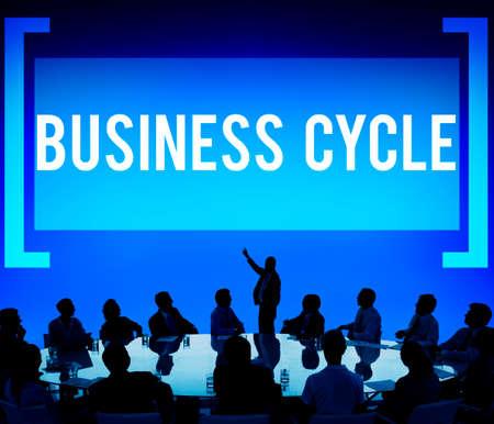 perdidas y ganancias: Business Cycle Income Profit Loss Recession Concept Foto de archivo