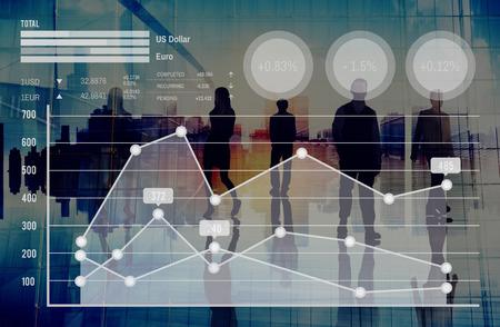 Graph Growth Finance Börse Währungsanalyse Konzept Standard-Bild - 46993676
