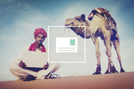 camel in desert: Mail Email Message Inbox Communication Concept