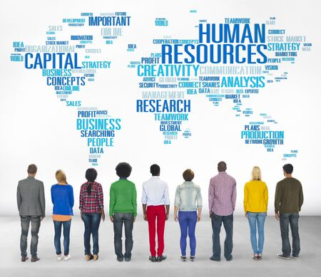 success man: Human Resources Career Jobs Occupation Employment Concept Stock Photo