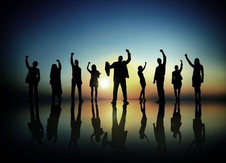 succesful: Business People  Succesful Celebrating Winning Concept
