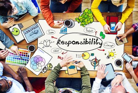 책임 의무의 의무 역할 작업 개념 스톡 콘텐츠