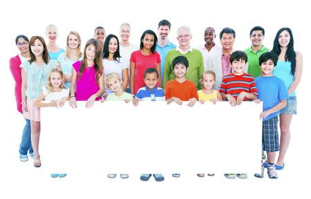 diversidad: Gente Diversa Amistad Felicidad Banner Copy Space Concept