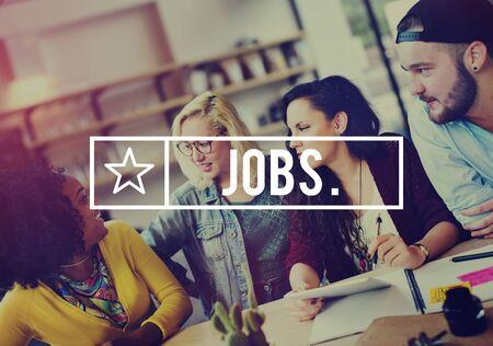 求人雇用キャリア職業アプリケーションの概念 写真素材