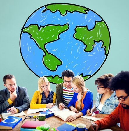 import and export business: Global Networking Communication Economy Worldwide Concept Stock Photo