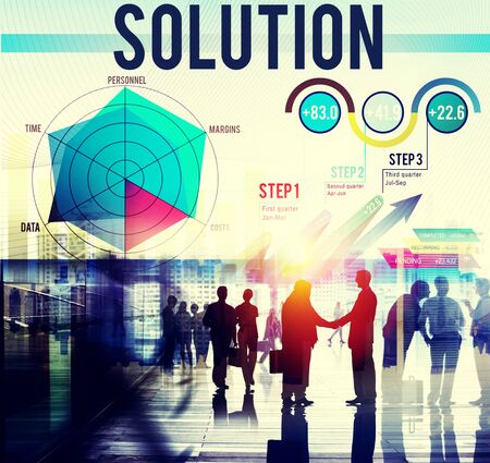 problem solution: Solution Problem Solving Business Strategy Concept Stock Photo