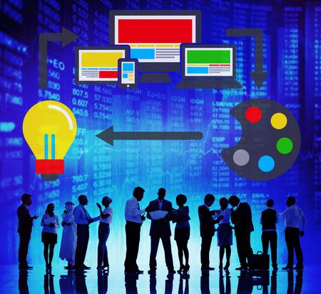 Web Design Online Technologie Layout Design Concept