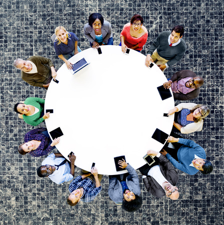 digital device: Diverse People Friends Digital Device Technology Concept