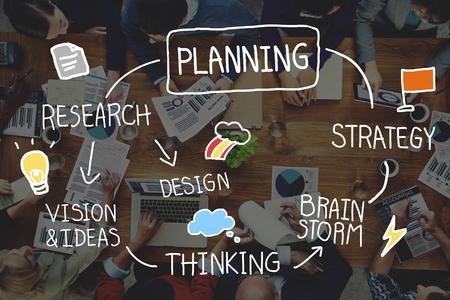 プロセスの概念を接続戦略検索目標ミッションの計画