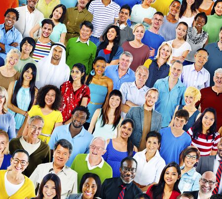 ethnicity: Multiethnic Variation Ethnicity Crowd People Concept Stock Photo