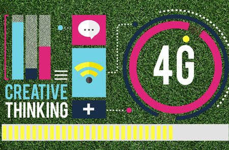 4g: 4G Connection Technology Internet Network Concept Stock Photo
