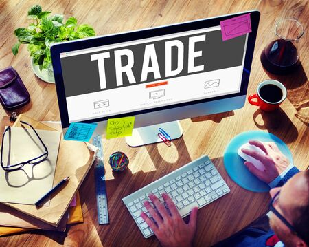 barter: Trade Marketing Commercial Merchandise Concept Stock Photo