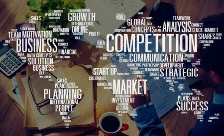 competencia: Competencia Global Market Desaf�o Concurso Concept Foto de archivo