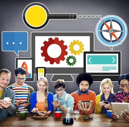 digital device: Digital Device Computer Connecting Internet Online Concept