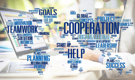 Cooperation Unity Partnership Collaboration Teamwork Concept Foto de archivo