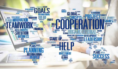 global partnership: Cooperation Unity Partnership Collaboration Teamwork Concept Stock Photo