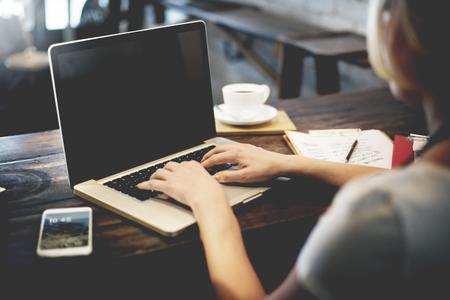 비즈니스 여자 작업 계획 아이디어 개념 스톡 콘텐츠