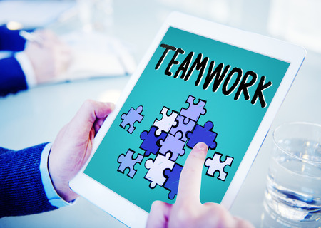 unity: Teamwork Team Collaboration Connection Togetherness Unity Concept
