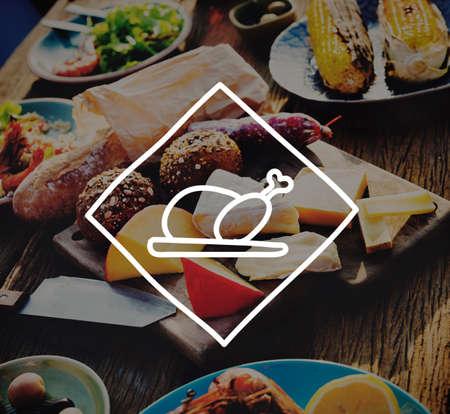 comiendo pan: Queso de comidas Partido Aire libre Food Restaurant Concepto