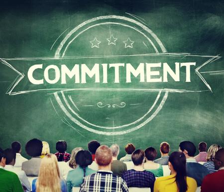 compromiso: Devoción Compromiso Conviction Dedicación Concepto Foto de archivo