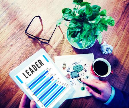 Leader Leadership Authority Coach Concept Stock Photo