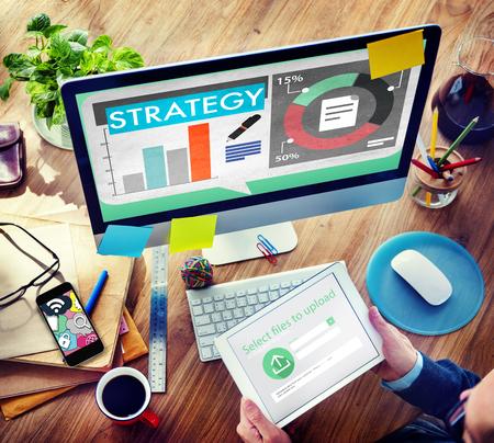 marketing concept: Strategy Plan Marketing Data Ideas Innovation Concept Stock Photo