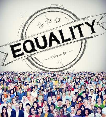 equal to: Equality Balance Discrimination Equal Moral Concept Stock Photo