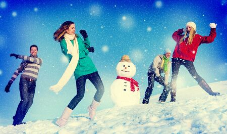 best travel destinations: Christmas Cheerful People Holiday Winter Friendship Concept