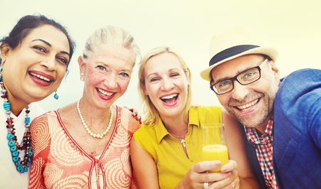 neighbors: Diverse Neighbors Drinking Party Concept Stock Photo