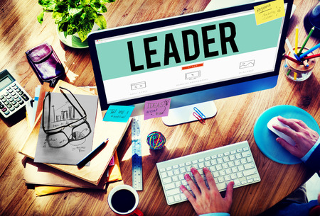 liderazgo empresarial: Concepto Liderazgo Líder de Gestión de Entrenamiento Foto de archivo