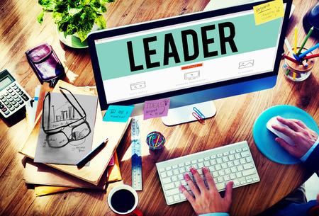 business leadership: Leader Leadership Management Coaching Concept