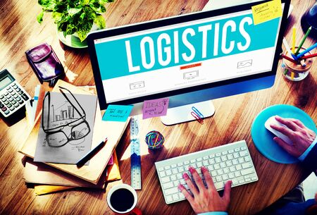 office supply: Export Import Logistic Transportation Concept