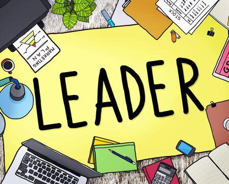 manager: Leader Leadership Manager Management Director Concept Stock Photo