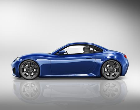 nowy: Ilustracja samochodów samochody ciężarowe 3D Concept
